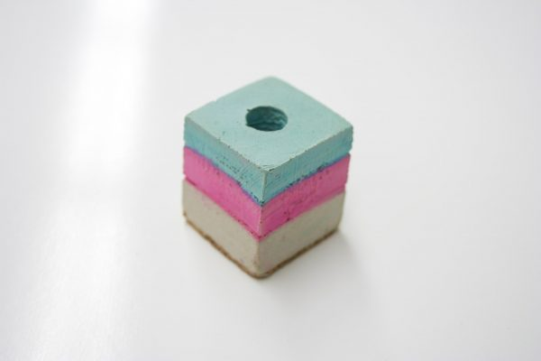 Canadian Lumber cone holder cannabis accessory product, pink, green, and blue chalk colour series edition