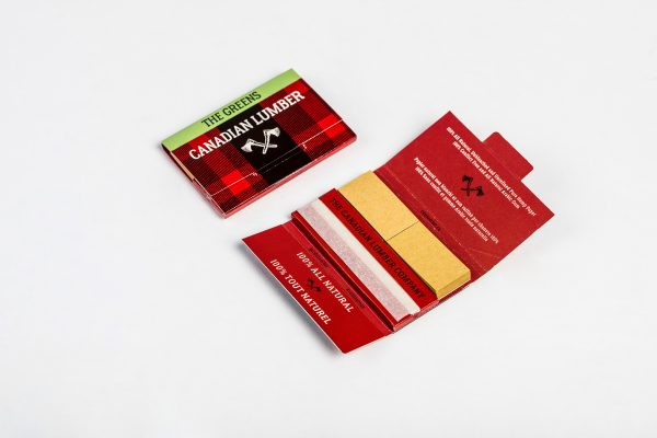 The Greens - Canadian Lumber natural rolling papers made from hemp fibers with ethically sourced arabic gum seal