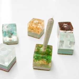 Canadian Lumber cone holder cannabis accessory product line, various ancient lake designs all made with eco friendly resin