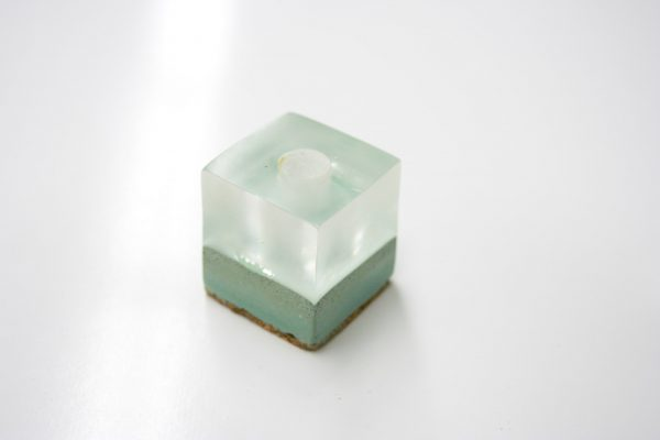 Canadian Lumber cone holder cannabis accessory product, ice ancient lake design with eco friendly resin