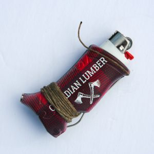 Canadian Lumber edition toker poker all in one smoking accessory wrapped in artisan terpene hemp wick - profile view