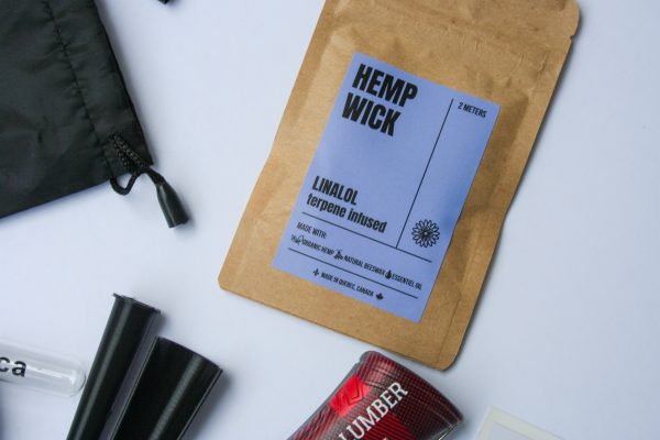 Hemp Wick artisan terpene-infused cannabis accessory product for lighting rolling papers offered by Canadian Lumber