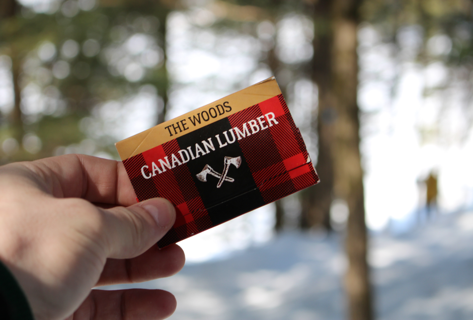 The Woods Canadian Lumber Rolling Papers made from natural wood pulp, out in the wilderness