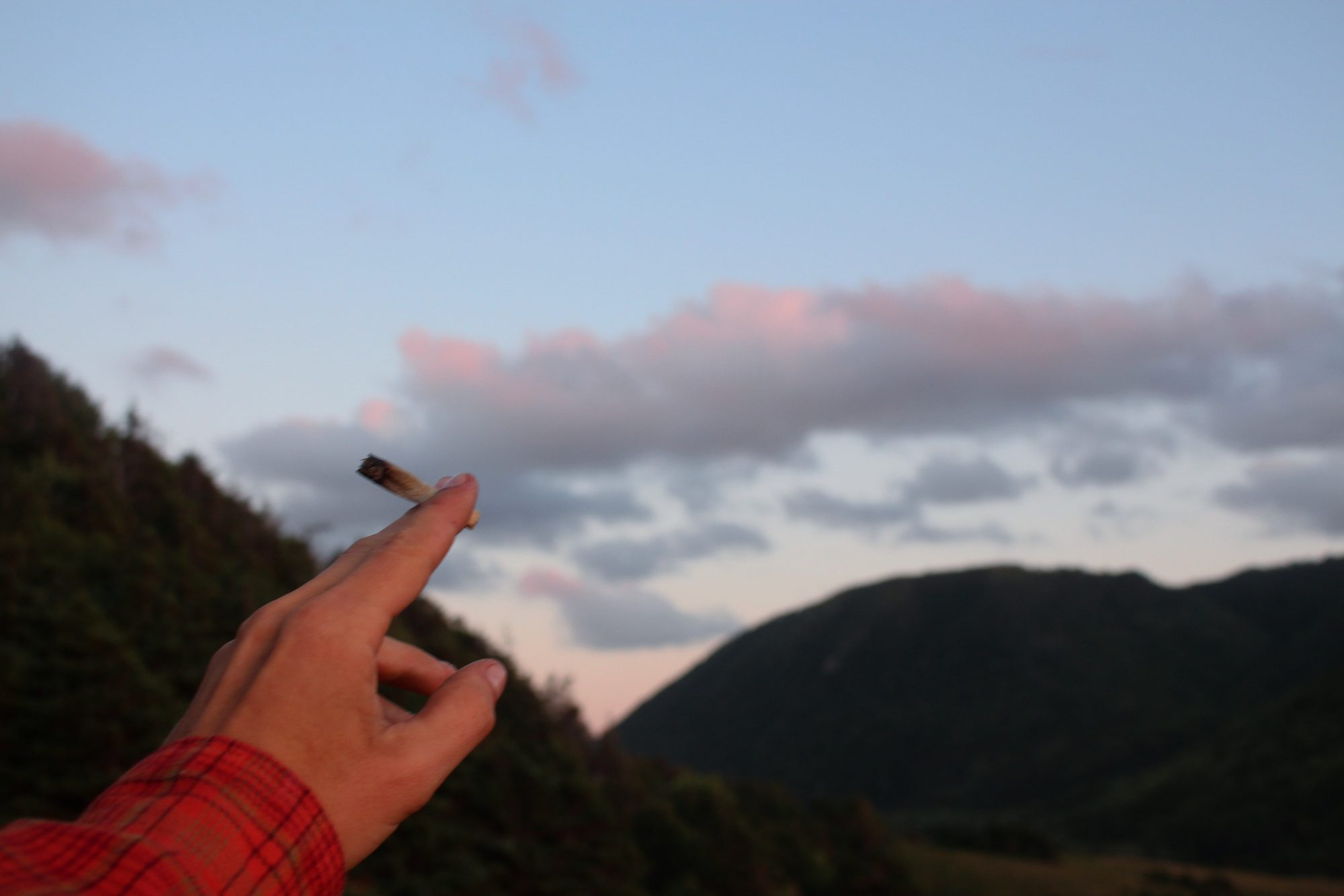 Canadian Lumber Rolling Papers joint sunset and moutains